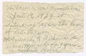 view Handwritten note from Magdalene Hendricks Boozé digital asset number 1