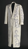 view Cream duster coat designed by Manuel Cuevas and worn by George Clinton digital asset number 1