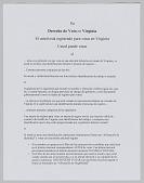 view <I>Su Derecho de Voto en Virginia</I> digital asset number 1