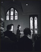view <I>An invited speaker addresses the audience inside Ebenezer Baptist Church at the first birthday celebration of Dr. King in 1969</I> digital asset number 1