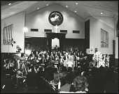 view <I>Inside Ebenezer Baptist Church during first memorial to Dr. King, 1969</I> digital asset number 1