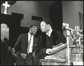 view <I>Rev. A.D. King, Dr. King's younger brother, at the pulpit inside Ebenezer Baptist</I> digital asset number 1