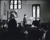 view <I>Andrew Young addressing he audience at the first birthday celebration in memory of Dr. Martin Luther King, Jr.</I> digital asset number 1
