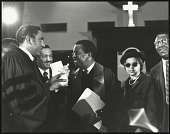 view <I>Rev. Dr. Joseph Echols Lowery, Congressman John Conyers, Rev. Dr. Ralph David Abernathy, Mrs. Rosa Parks and Mr. Robinson, chatting</I> digital asset number 1