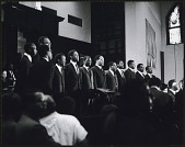 view <I>Choral musical performance at the first birthday celebration of Martin Luther King, Jr.</I> digital asset number 1