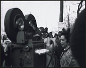 view <I>Mrs. Coretta Scott King walking to her limousine after the first birthday celebration of Dr. Martin Luther King, Jr.</I> digital asset number 1