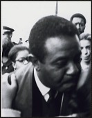 view <I>Dr. Ralph David Abernathy being kissed on the cheek by an admirer after the memorial service</I> digital asset number 1