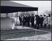 view <I>Students from Clark College gathered around Dr. King's tomb at Southview Cemetery</I> digital asset number 1
