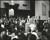 view <I>Dr. Ralph Abernathy addresses the audience inside Ebenezer Baptist Church</I> digital asset number 1