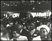 view <I>Audience at First Memorial to Dr. Martin Luther King, Jr. held at Ebenezer Baptist, 1969</I> digital asset number 1