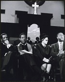 view <I>Rosa Parks seated with Congressman John Conyers, Dr. Ralph David Abernathy and Mr. Cleveland Robinson</I> digital asset number 1