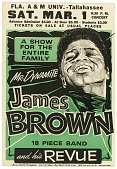 view Poster advertising a James Brown concert at Florida A&M University digital asset number 1