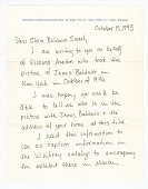 view Letter to Gloria Baldwin Karefa-Smart from Alexandra Truitt digital asset number 1