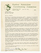 view Letter to James Baldwin from Julian Bond digital asset number 1