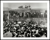 view <I>Crowd outside Lorraine Motel after the assassination of Dr. Martin Luther King, Jr.</I> digital asset number 1