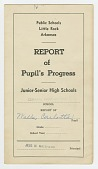 view Report card for Carlotta Walls from Little Rock Central High School digital asset number 1
