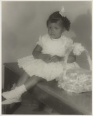 view Studio portrait of a young girl with Easter basket digital asset number 1
