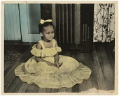 view A hand-tinted portrait of a girl in a yellow dress digital asset number 1