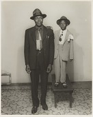 view Studio portrait of father and child digital asset number 1