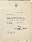 view Letter to Richard Howard from Vice Pres. Richard Nixon, October 22, 1960 digital asset number 1