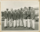 view Photograph of the U.S. AAU Track and Field Team in Tokyo, Japan digital asset number 1