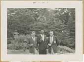 view Photograph of three members of the U.S. AAU Track and Field Team in Tokyo, Japan digital asset number 1