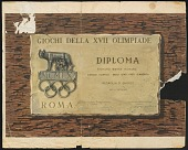 view Olympic Diploma for Bronze Medal in the 400M Hurdles awarded to Richard Howard digital asset number 1