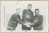 view Print of the Men's 400M Hurdles medalists at the 1960 Summer Olympics digital asset number 1