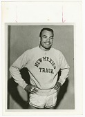 view Contact print of Dick Howard wearing New Mexico Track sweatshirt digital asset number 1