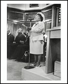 view <I>The church announcements are read by Elizabeth Davis at Charles Street AME Church, Roxbury, Massachusetts, 2005</I> digital asset number 1