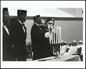 view <I>Members of the King Frederick Consistory #38 Prince Hall Masons conduct a special Easter Sunrise Ceremony at Greater Middle Baptist Church, pastured by Rev. Benjamin L. Hooks, Memphis, Tennessee, 2005</I> digital asset number 1