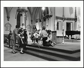 view <I>Young children reenact the birth of Jesus in the Christmas Nativity play at St. Augustine Roman Catholic Church, Washington, D.C. 2003</I> digital asset number 1