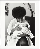 view <I>Black Panther mother and her newborn son, Baby Jesus X, San Francisco, California, No. 125</I> digital asset number 1