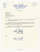 view Letter from US Representative Tom DeLay to Carl Lewis digital asset number 1