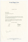 view Letter from Vice President Al Gore and his wife Tipper Gore to Carl Lewis digital asset number 1