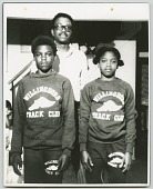 view Gelatin silver print of Carl Lewis with his sister and father digital asset number 1