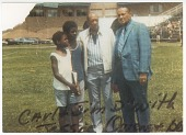 view Photographic print of Carl Lewis with Jesse Owens and two others digital asset number 1