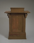 view Podium used at the Wayman Chapel A.M.E. Church in Lyles Station, Indiana digital asset number 1