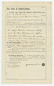 view Bill of sale for Sally and her daughters, Sylvia, Charlotte, and Elizabeth digital asset number 1