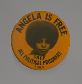 """view Pinback button featuring """"Angela is Free"""" digital asset number 1"""