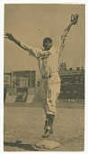 view Photomechanical print of Jackie Robinson on Brooklyn Dodgers opening day in 1947 digital asset number 1