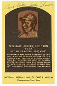 view Postcard of Judy Johnson Baseball Hall of Fame plaque digital asset number 1