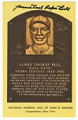 "view Postcard of James ""Cool Papa"" Bell Baseball Hall of Fame plaque digital asset number 1"