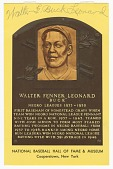 view Postcard of Buck Leonard Baseball Hall of Fame plaque digital asset number 1