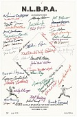 view Autograph sheet from Negro League Baseball Players Association Reunion digital asset number 1