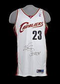 view Jersey for the Cleveland Cavaliers worn and signed by LeBron James digital asset number 1