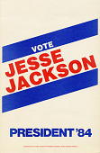 view Poster for Jesse Jackson 1984 presidential campaign digital asset number 1