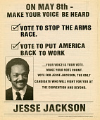 view Newspaper insert for Jesse Jackson 1984 presidential campaign digital asset number 1