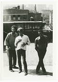 view Film still of The Last Poets during the filming of Right On! digital asset number 1