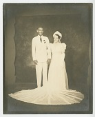 view Wedding portrait of Lollaretta Pemberton and Grover Allen digital asset number 1